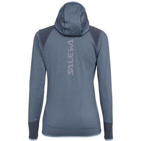 SALEWA Agner Hybrid Polarlite/Durastretch Sweat à capuche zippé Femme, flint stone melange
